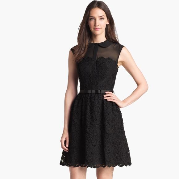 fcff1e502 Ted Baker Ranni Black Lace Sheer Dress. M 5ae4f425a44dbe3e53f82a9b